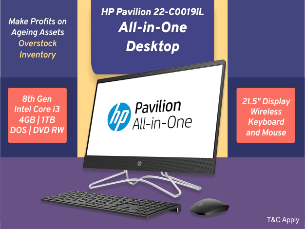 HP Pavilion 22-C0019IL All-in-One Desktop