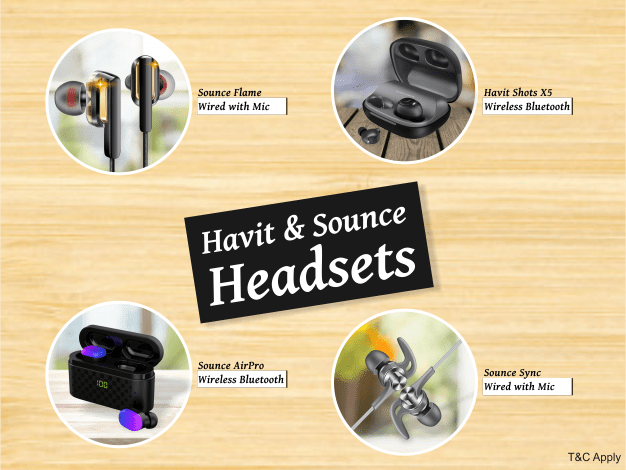 Havit and Sounce Headsets
