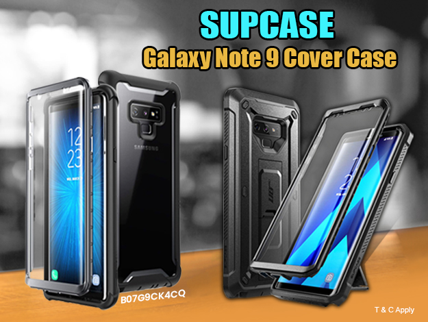 Supcase (B07G9CK4CQ) Galaxy-Note9-Ares-SP-Black