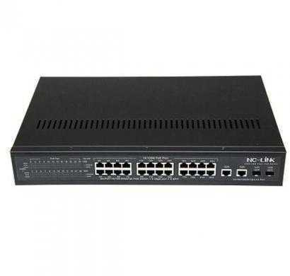 24-port 10/100mbps+2ge+2sfp ports  rackmount switch with 24-port poe