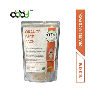 abby herbal face pack for cleaning face naturally 100 grams (orange peel)