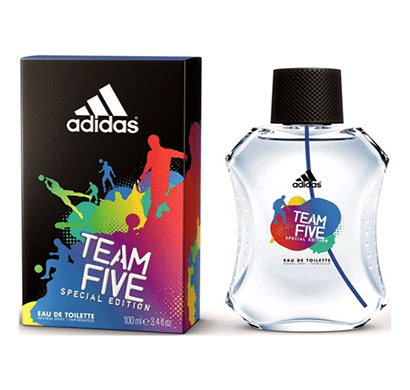 adidas team five 100 ml edt for men