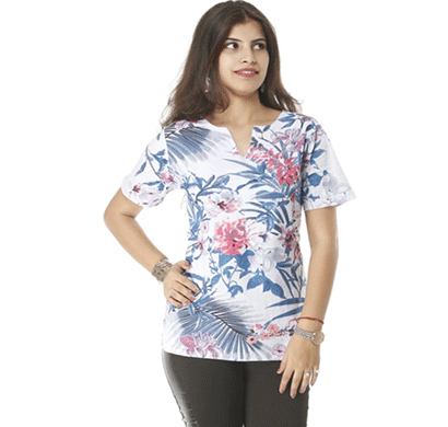 advik western printed top's for women's (white)