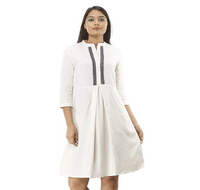 advik women's plain top(white)