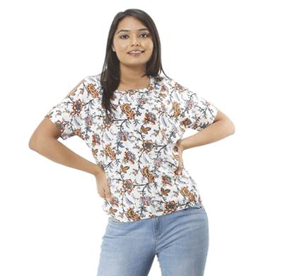 advik printed top for women's (multicolor)