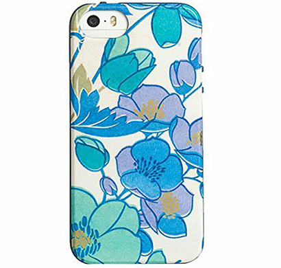 agent18- p5fx/189, flexshield for iphone 5/5s- floral (blue/gold)