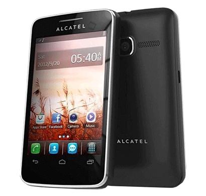 alcatel 3040d smart phone, 3.5 inches display, 1000 mah battery black
