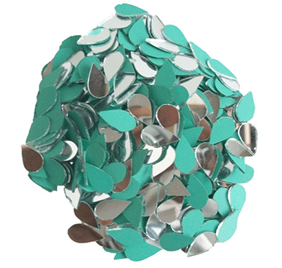 almond shape mirror beads for art and craft and also used in embroidery (almond shape 12 mm)