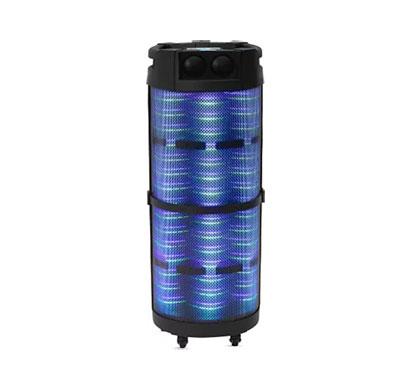 altec lansing al-5003 with dj light & karaoke 100 w bluetooth party speaker (black, stereo channel)