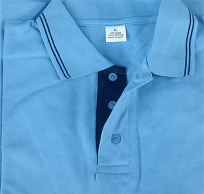 100anb 250 gsm mens polo double tipping (coller) t-shirt combed cotton sky blue