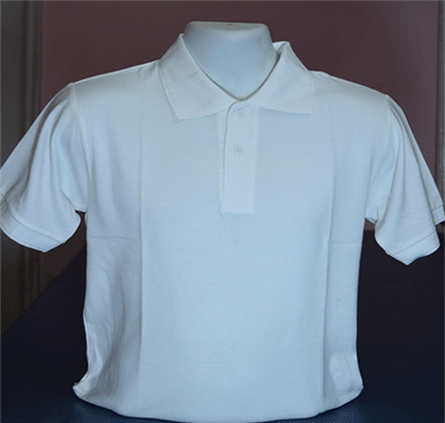 100anb mens polo (coller) t-shirt (180-190 gsm) 100% combed cotton white