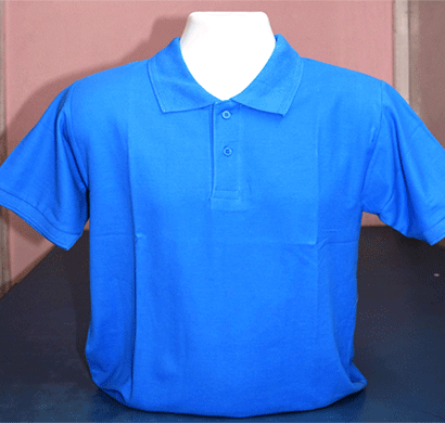 100anb mens round neck t-shirt combed (180-190 gsm) cotton blue