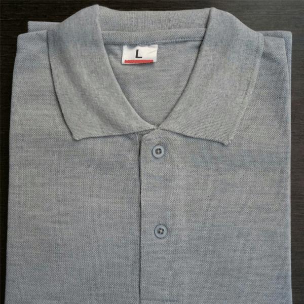 100anb mens polo (coller) t-shirt (220 gsm) - poly cotton grey