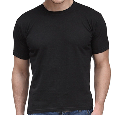 100anb round neck (160 - 180 gsm) t-shirt cotton black