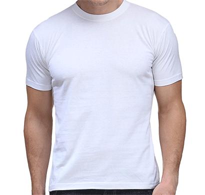 100anb round neck (160 - 180 gsm) t-shirt cotton white