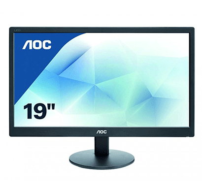 aoc 18.5 inch hd led backlit lcd e970swnl monitor black