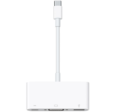 apple - 888462075039 usb-c to vga adapter, white