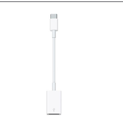 apple - 888462108454 usb-c to usb adapter, white