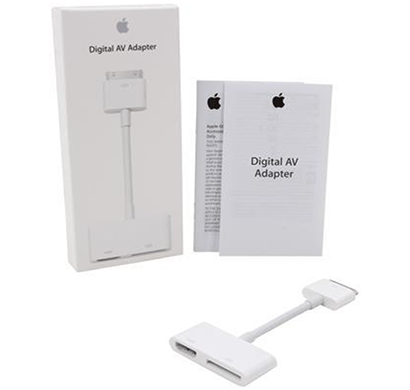 apple - md098zm/a digital av adapter, white, 1 year warranty