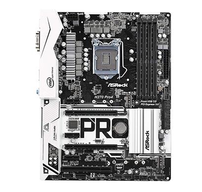 asrock h270 pro4 (lga1151) 6th and 7th generation motherboard
