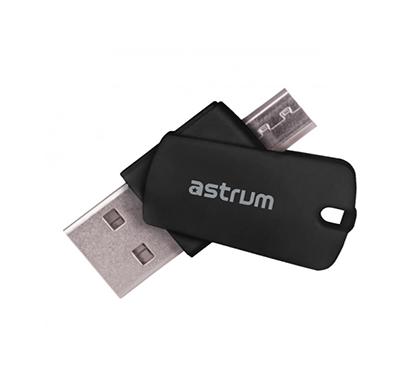 astrum cr100 micro usb 2 tf card reader (black)