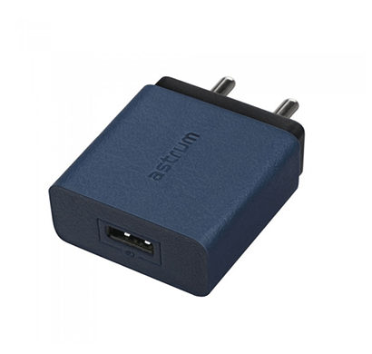 astrum ch310 quick charge 3.0a home wall charger (blue)