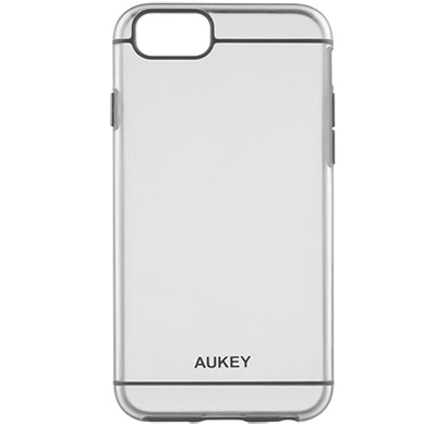aukey iphone 6+ ultra slim premium crystal clear case (5.5 inch) (grey), 6 month warranty