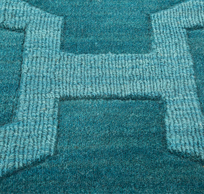 asterlane handloom carpet phwl-97 peacock blue