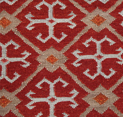 asterlane woolen dhurrie carpet pdwl-73 mars red size 2 x 3