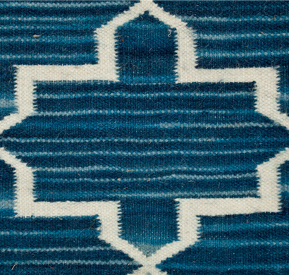 asterlane woolen dhurrie carpet pdwl-89 evening blue