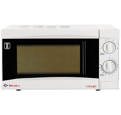 bajaj - 490033, 17 l solo microwave oven, 1701 mt, white, 1 year warranty