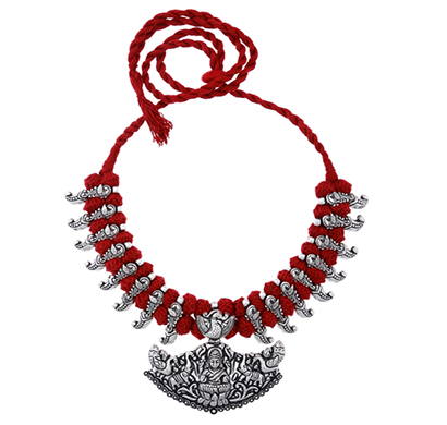 ballerina's (bsaotjnes08405) oxidized silver plated necklace for women