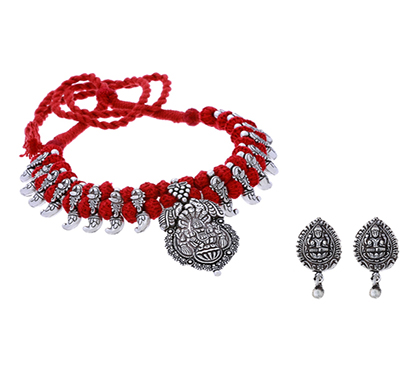 ballerina's (bsaojnes051) oxidized silver plated necklace for women