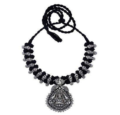 ballerina's (bsaotjnes07608) oxidized silver plated necklace for women