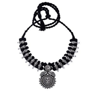 ballerina's (bsaotjnes07708) oxidized silver plated necklace for women