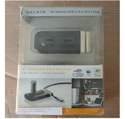 belkin- hi speed usb 2.0.4 port hub