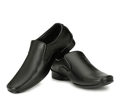 blanc puru-710300bm0008/ slip on/ artificial leather/ size 8/ black/ formal shoes