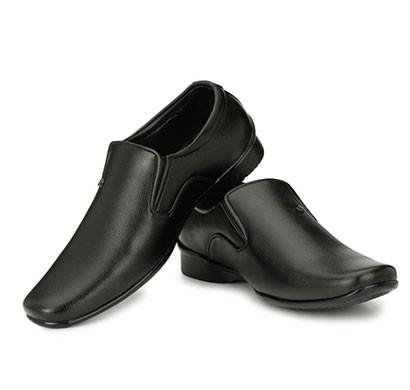 blanc puru-710300bm0009/ slip on/ artificial leather/ size 9/ black/ formal shoes