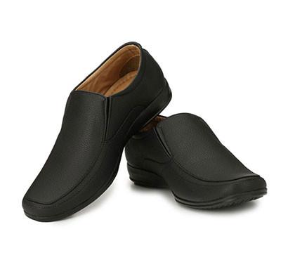 blanc puru-720500bm008/ slip on/ artificial leather/ size 8/ black/ formal shoes