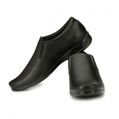 blanc puru-720300bm009/ slip on/ artificial leather/ size 9 / black/ formal shoes