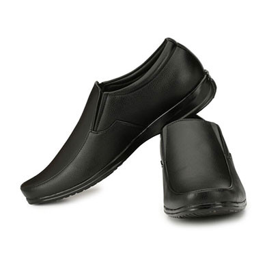 blanc puru-720300bm010/ slip on/artificial leather/ size 10 / black/ formal shoes