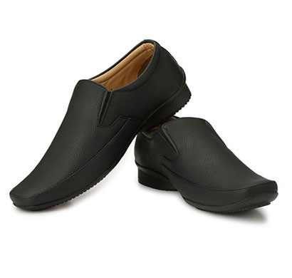 blanc puru-710800bm010/ slip on/ artificial leather/ size 10/ black/ formal shoes