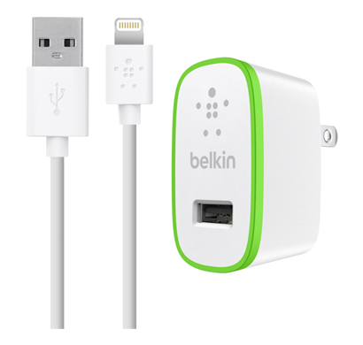 belkin f8j052ttwht single micro ac charger,  iphnx, 5v, 2.1a, white