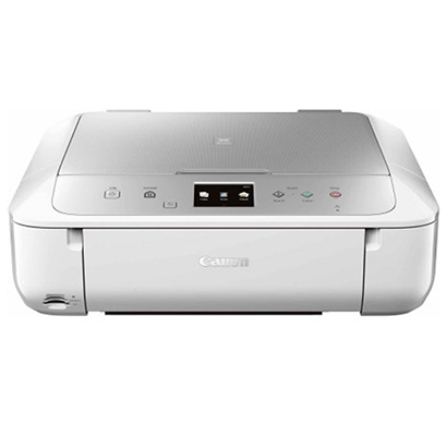 canon pixma mg5770 multi-function wireless printer (white, silver)