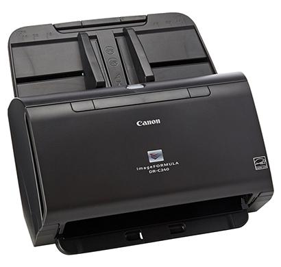 canon dr- c240, desktop sheetfed type (adf) scans passport, highspeed duplex legal scanner, 1 year warranty