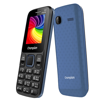 champion x2 style feature phone with powerfull capacity black&blue