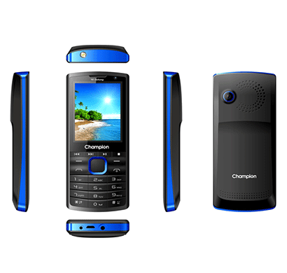 champion y6 dabang mobile phone with powerfull capacity black/blue