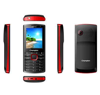 champion y6 dabang mobile phone with powerful capacity black/red