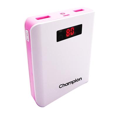 champion z-10 digital power bank 10400mah capacity (bis certified) - pink
