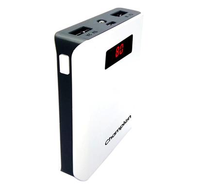 champion z-10 digital power bank 10400mah capacity (bis certified) - white & black